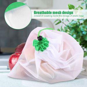 SAC DE CONSERVATION 16pcs Sac à légumes Sac à fruit en maille réutilis
