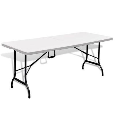 IK-Table de jardin pliable 180 cm blanche en HDPE - Achat / Vente ...