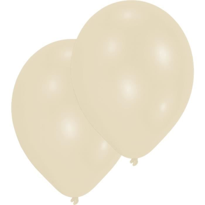 AMSCAN Lot de 10 Ballons en latex Premium 27,5 cm/11'' - Beige crème
