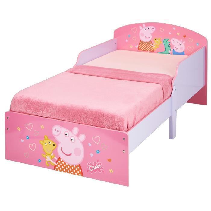 PEPPA PIG Lit pour enfants - Rose - 140 x 70 cm