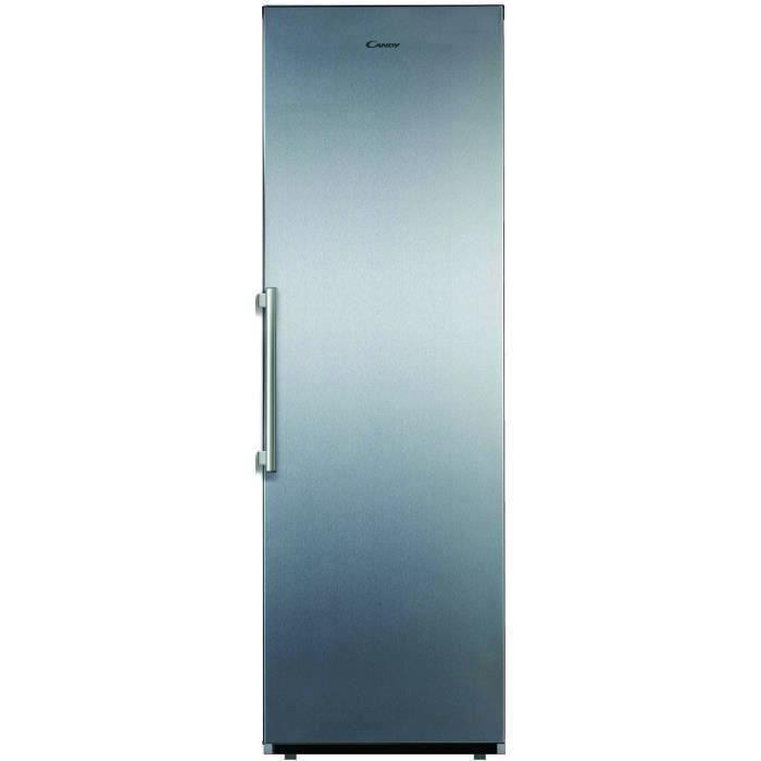CANDY CLF1864XM - Réfrigérateur 1 porte - 350L - No frost - A++ - L59,5 x H185,5 cm - Inox