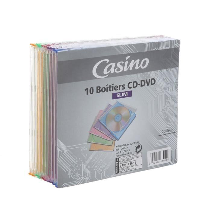 CASINO Boitiers CD-DVD x 10
