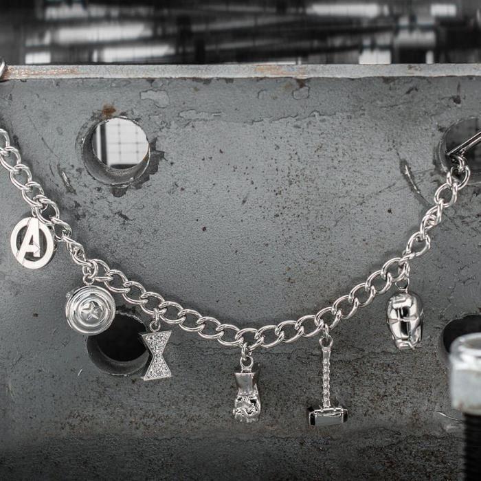Bracelets de charme en acier inoxydable Marvel Avengers officiel