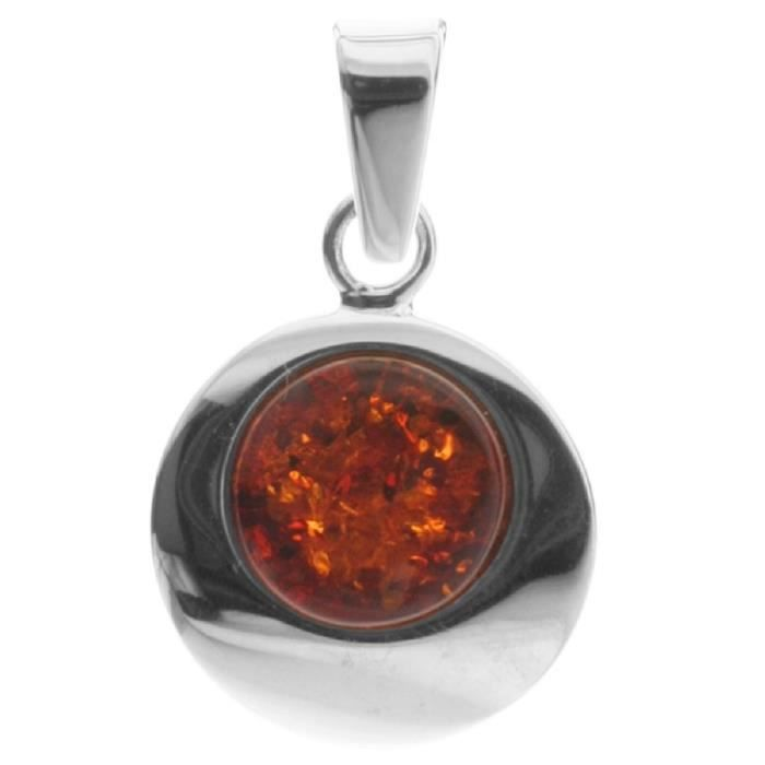 In Collections - 10203570100 - Pendentif Femme - Argent 925-1000 1.90 Gr - Ambre VY82F