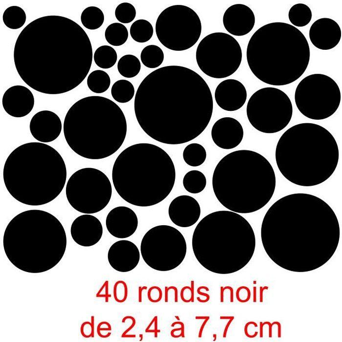 stickers rond noir achat vente stickers rond noir pas cher cdiscount. Black Bedroom Furniture Sets. Home Design Ideas
