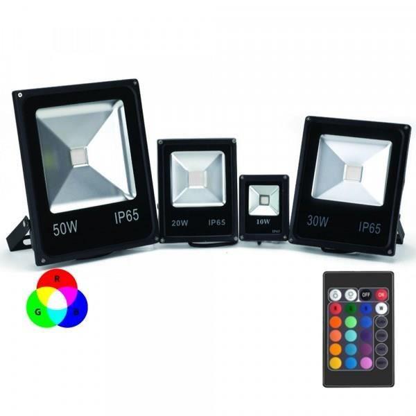 Projecteur led rgb avec t l commande 50w achat vente projecteur ext rieur projecteur led rgb for Tele achat projecteur noel