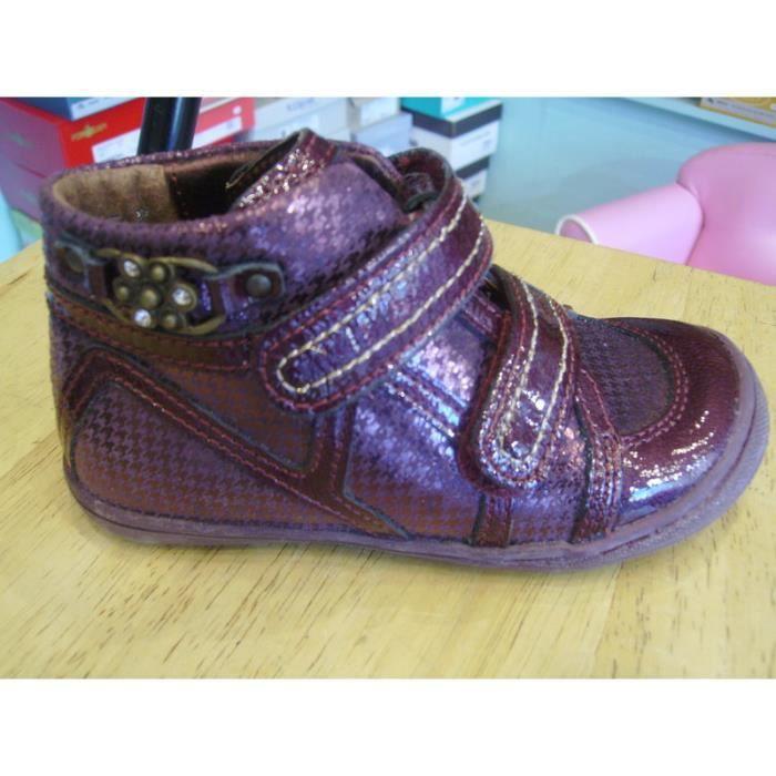 Chaussures enfants. Boots filles à scratchs LITTLE MARY P25