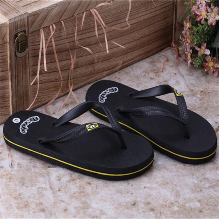 Tongs homme plein air branché 2017 nouvelle marque de luxe chaussured'étéPlus de couleur bleu jaune marron Grande Taille 40-44 1IM7akshfX