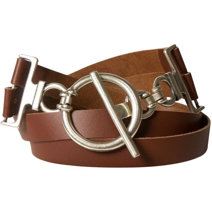 à bas prix le plus populaire Los Angeles FRONHOFER Ceinture pour femme ceinture de hanches ceinture en cuir  véritable d'environ 6 cm boucle en étrier ceinture de taille