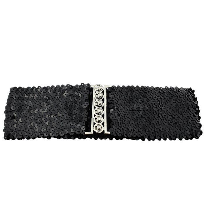 ceinture large en paillettes pour femmes - tissu élastique pour filles,  paillettes, ceinture large I2Z0P Taille-M 2b83ef4a543