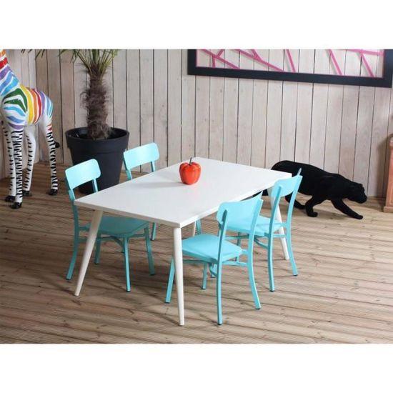 Salon de jardin MICA crème - Couleur - Bleu - Achat / Vente salon de ...