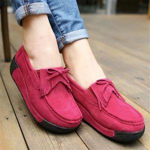 Cotons Chaussure Haut qualité Confortable Nouvelle Loafer Léger Mode Femme Moccasin Plus De Cachemire Garde Au Chaud Hiver 36-43 6I9P6QlV