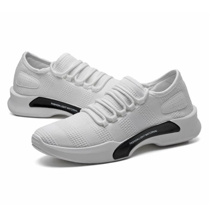 Basket Homme Ultra Comfortable Occasionnelles Chaussure TYS-XZ011Blanc-39