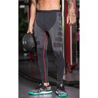 PANTALON Homme Sports Yoga Pantalons Collants élastiques Fi