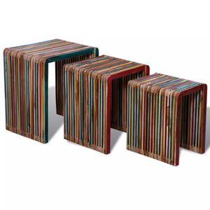 TABLE BASSE yorten Set de 3 Tables Gigognes Tables D'appoint T