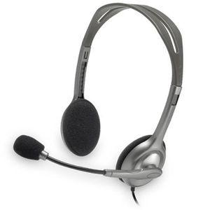 CASQUE - ÉCOUTEURS Ecouteurs Micro-Casque Logitech H110 H111 Jack 3.5