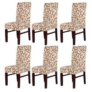COUSSIN DE CHAISE  6PCS Housse de de chaise Motif papillons belles en