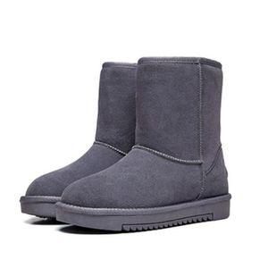 BOTTINE Bootes Femme de Neige en Cuir Boots Chaussures Pla