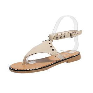 7f978081dd842 SANDALE - NU-PIEDS D été Femmes Sandales Appartements Chaussures De M ...