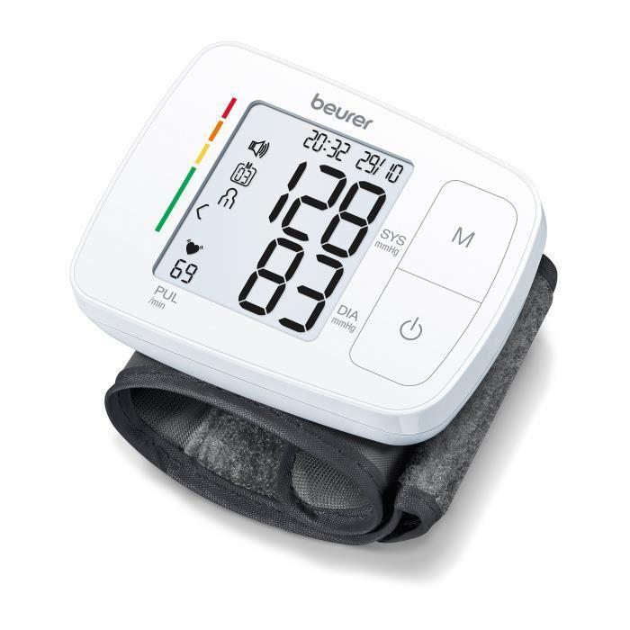 Tensiomètre poignet BEURER BC 21 - 2 x 60 mémoires - Fonction vocale - Pour un tour de poignet de 14,0 à 19,5 cm