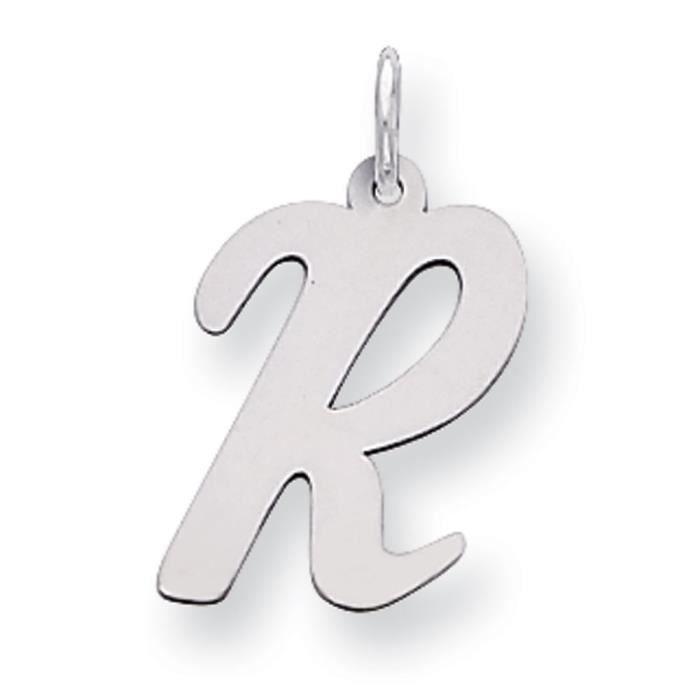 Argent Massif et Chaîne avec Charm lettre R