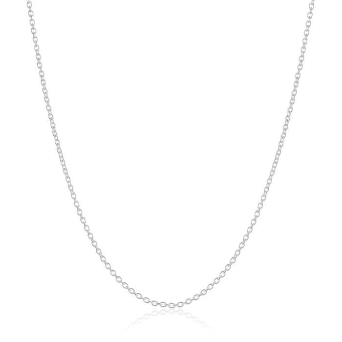 Jewel Panda Collier léger argent sterling Curb Twisted Chain