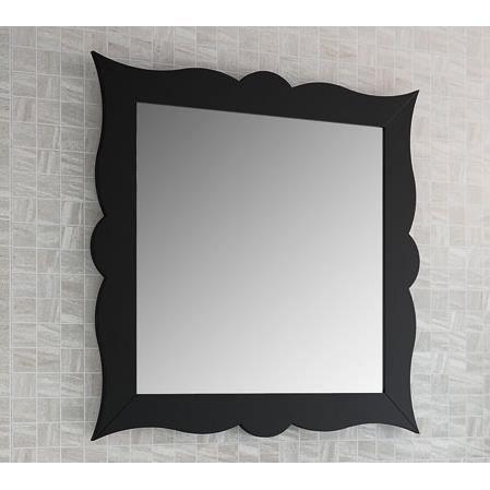 miroir de salle de bain r tro 79 cm cadre noir achat vente miroir soldes d s le 10. Black Bedroom Furniture Sets. Home Design Ideas