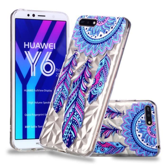 coque huawei y6 2018 silicone transparente