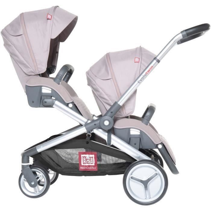 RED CASTLE Poussette Double Evolutwin - Taupe Taupe - Achat   Vente ... 9c832ca8bec1