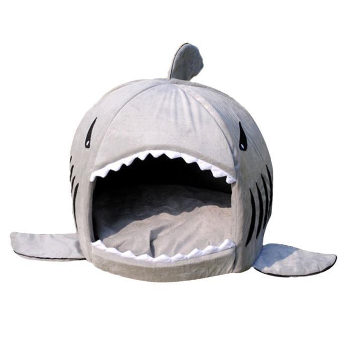 Maison D'animaux En Forme De Requin Pour Les Chiens Et Chats Nid Avec Un Coussin S