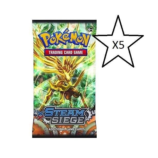 Carte Steam Cdiscount.Pokemon Trading Card Game Steam Siege Booster Pack 5