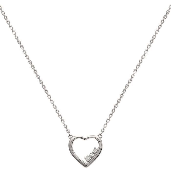 MARY JANE - Collier Argent - Long:45cm - Larg:15mm - Femme - Coeur