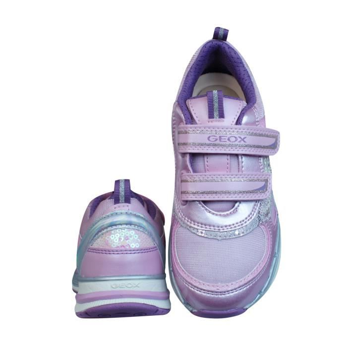 Geox J Top Fly G.A Filles baskets - Rose Pink 9