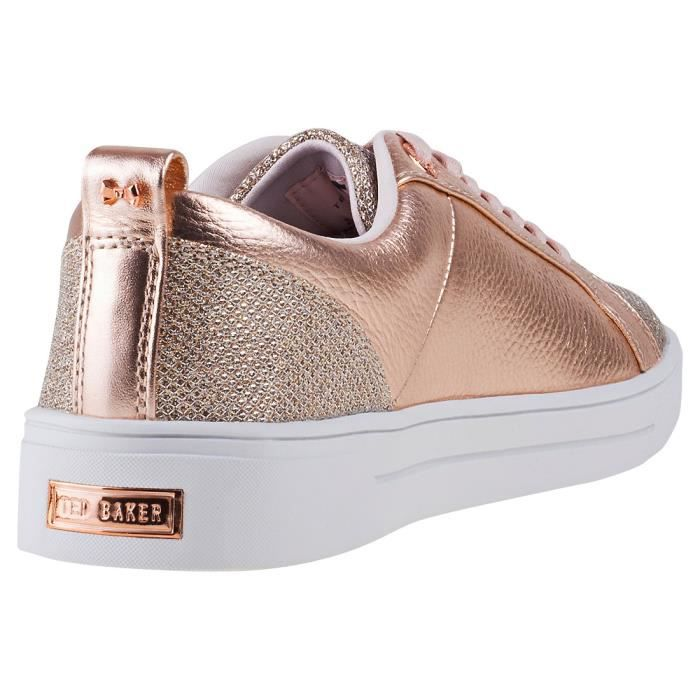 Ted Baker Kulei Lurex Femmes Baskets Or rose - 8 UK AEthuTJtAP