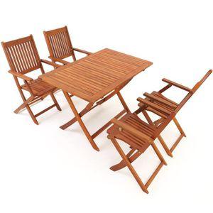 Salon de jardin bois acacia - Achat / Vente Salon de jardin bois ...