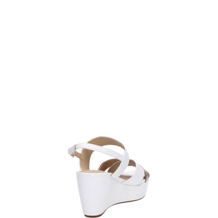 Geox Sandal Femme Taupe Gold White rose