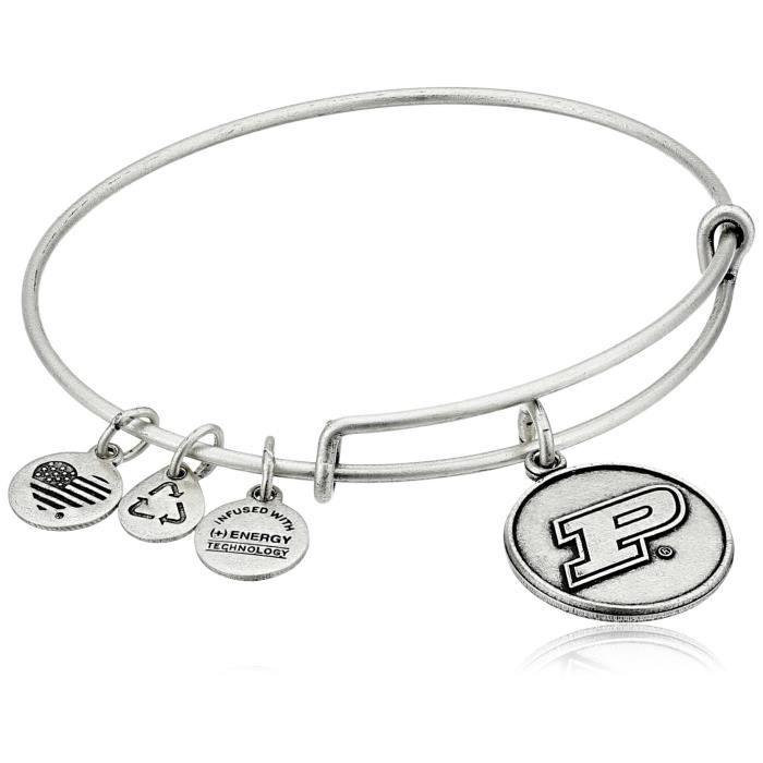 Alex And Ani logo de luniversité Purdue bangle extensible bracelet O9222