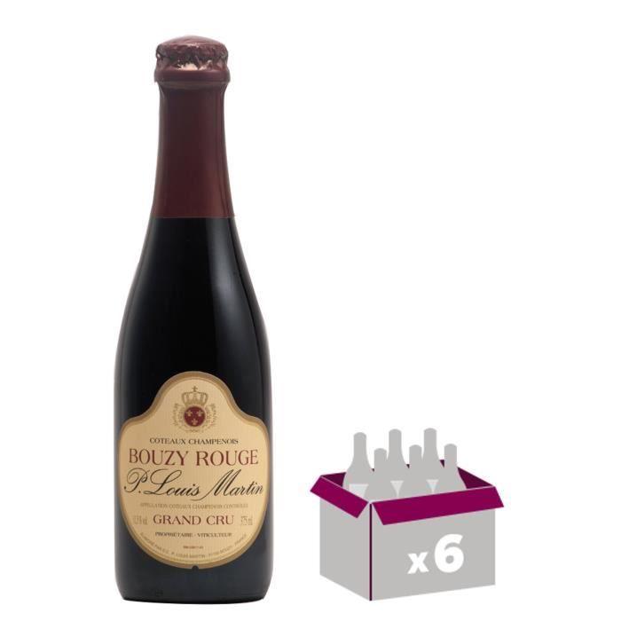 Gh martel bouzy vin de champagne rouge 375 cl x 6