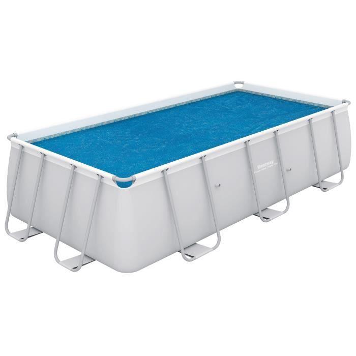 BESTWAY Bâche solaire pour Power Steel Frame Pools 488x274x122cm - 457x247cm