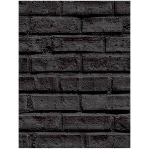 papier peint brique noir achat vente pas cher. Black Bedroom Furniture Sets. Home Design Ideas
