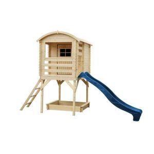 MAISONNETTE EXTÉRIEURE Maisonnette pour enfants en bois sur pilotis 175x1