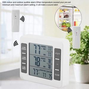 THERMOMÈTRE - BAROMÈTRE Thermomètre Réfrigérateur Congélateur Sans Fil Ala