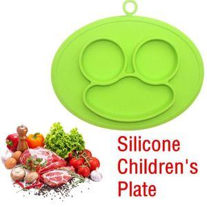 ASSIETTE - PLATEAU BÉBÉ Enfants Une Pièce Plaque de Silicone Plaque Plat P