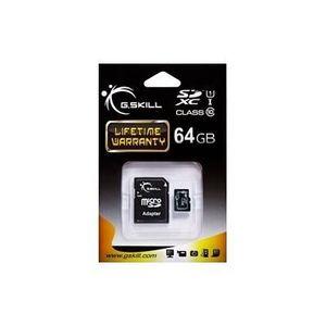 CARTE MÉMOIRE 64 Go Carte Mémoire micro SDXC CL10 UHS-1 avec ada