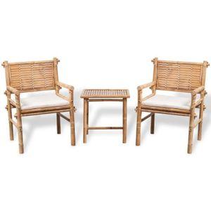 Salon de jardin en bambou - Achat / Vente pas cher