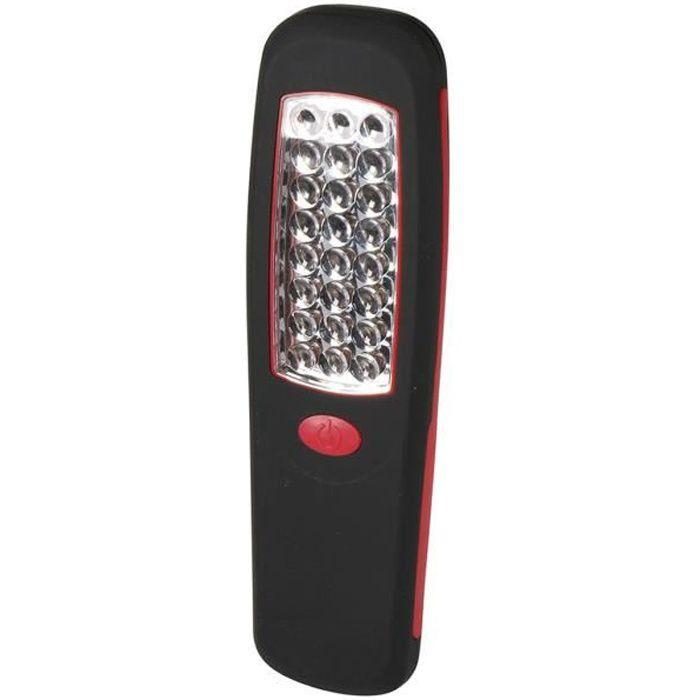 EXPERT LINE Torche plate magnétique 24 LED avec crochet