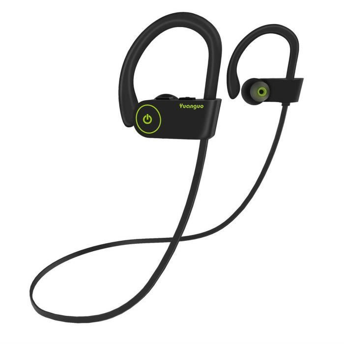 Écouteurs Bluetooth Yuanguo Casque Sans Fil Stéréo Ipx7 Imperméable Sport Oreillettes Avec Microphone Pour Tout Les Appareils Blueto