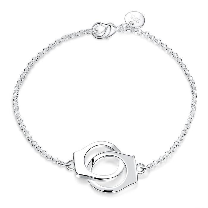 Craze mode bracelet en argent infini charme de la chaîne de bijoux simple cadeau dinspiration DSC7H