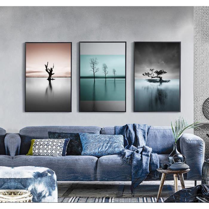 tableau paysage noir et blanc achat vente tableau paysage noir et blanc pas cher soldes. Black Bedroom Furniture Sets. Home Design Ideas