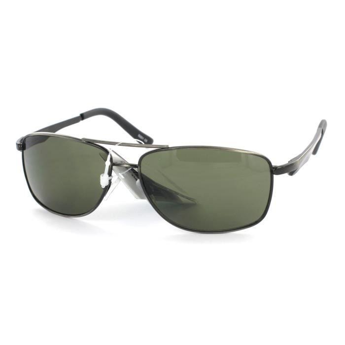 Lunettes aviateur sportswear-5201 Vert et Gun